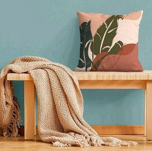 2/$20 Leaf Accent Cushion Cover without filler